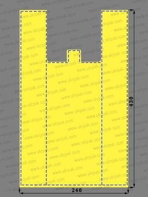 Пакеты майка без рисунка (24x43)