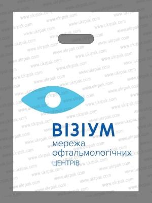 Пакеты банан с логотипом для офтальмологических центров