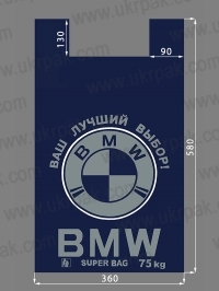 "Пакет ""майка"" с рисунком BMW"