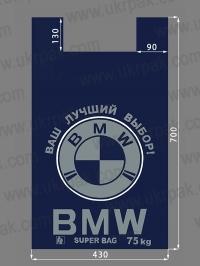 "Пакет ""майка"" с рисунком BMW супер"