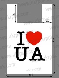 """Пакет майка с рисунком """"I Love UA"""""""