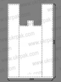 Пакеты майка без рисунка (22x36)