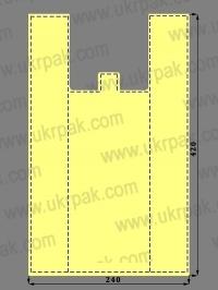 Пакеты майка без рисунка (24x42)