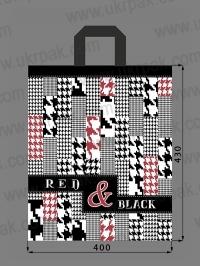 """Пакеты с петлевой ручкой """"RED&BLACK"""""""