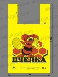 """Пакеты майка с рисунком """"Пчёлка"""""""